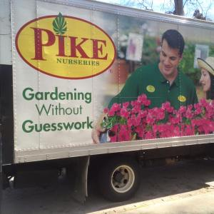 Pike Nursery delivering the Azaleas we planted in the front of Dearborn Park