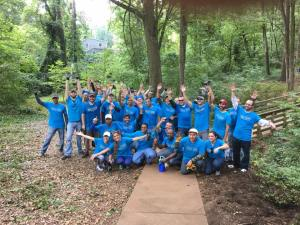akamai Technologies volunteer day in Dearborn Park
