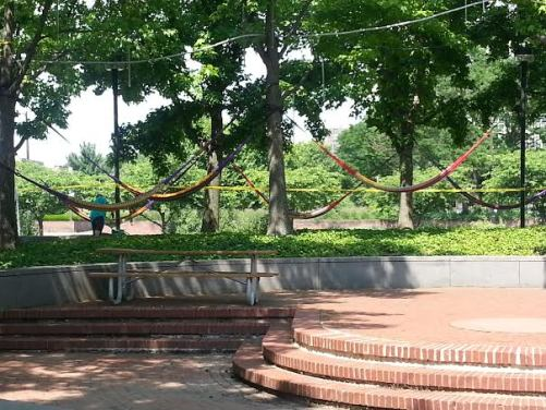 Hammocks unsafe activity in City of Decatur Parks